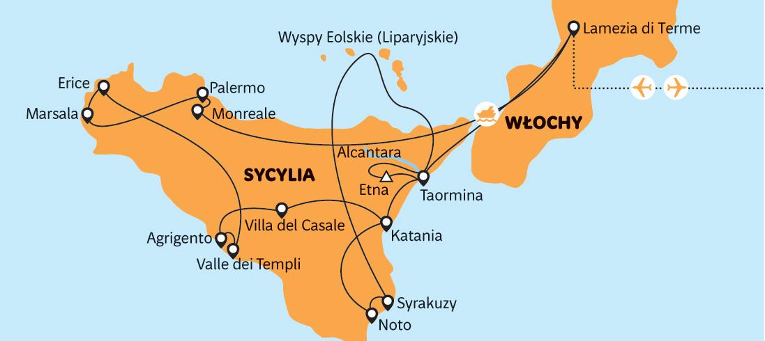 Sicilie Pozoruhodny Ostrov S Preletem Do Kalabrie Rainbowtours Cz